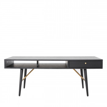 Table basse design bois 117x60cm Makassar