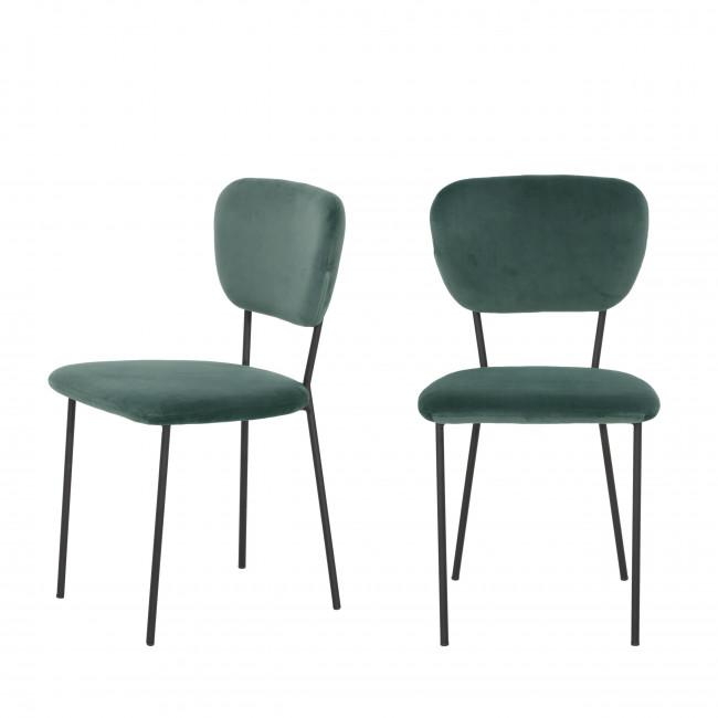 Lot de 2 chaises design en velours Pia
