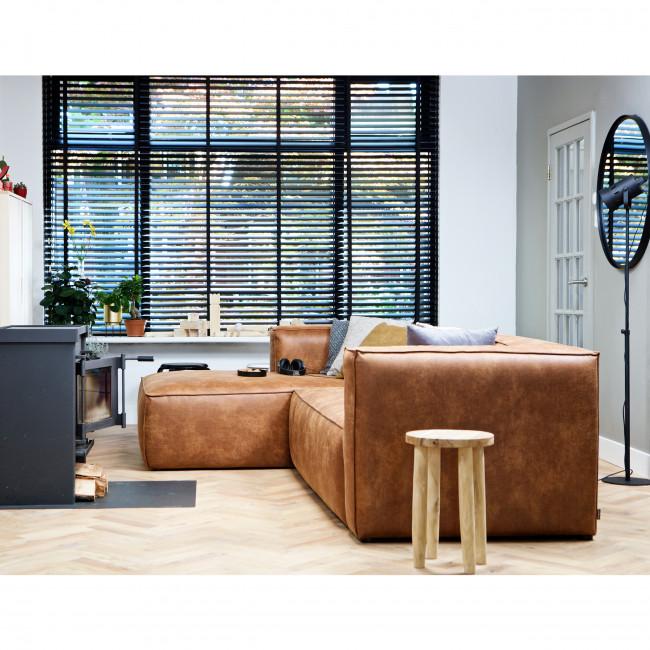 Canapé d'angle gauche cognac Bean