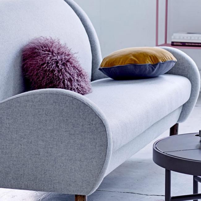 Canapé vintage 3 places en tissu Chill