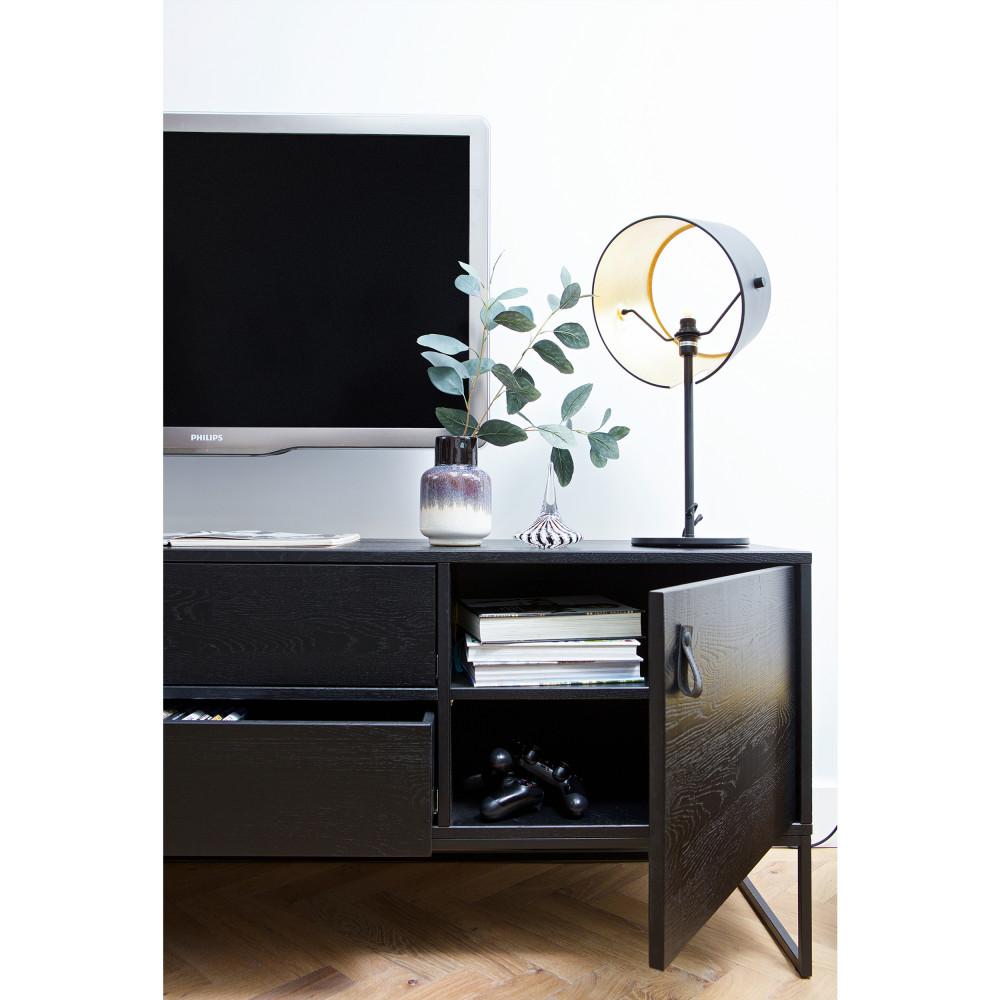 Meuble tv en ch ne bross silas drawer - Meuble tv en chene naturel ...