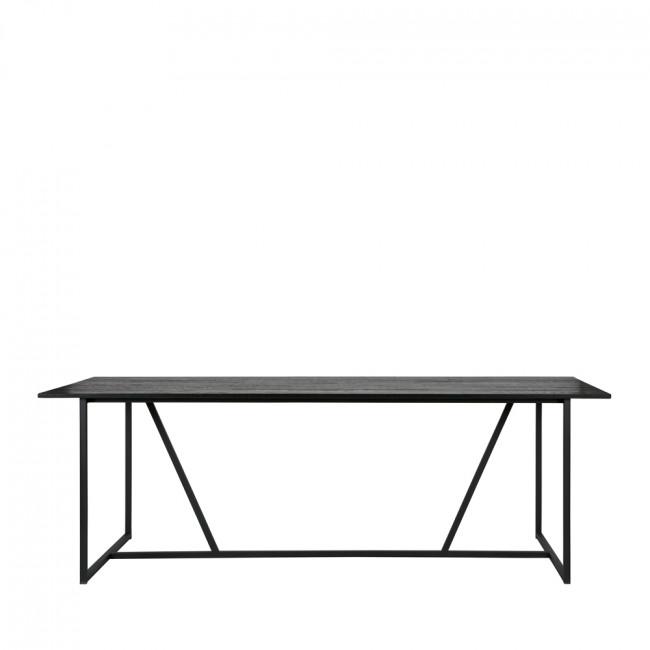 Table à manger en frêne brossé 220 x 90 cm Silas noire