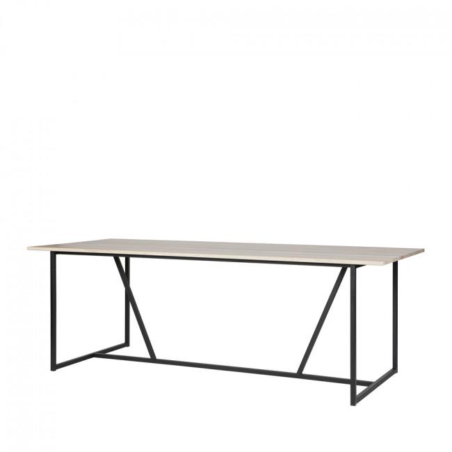 Table à manger en frêne brossé 220 x 90 cm Silas