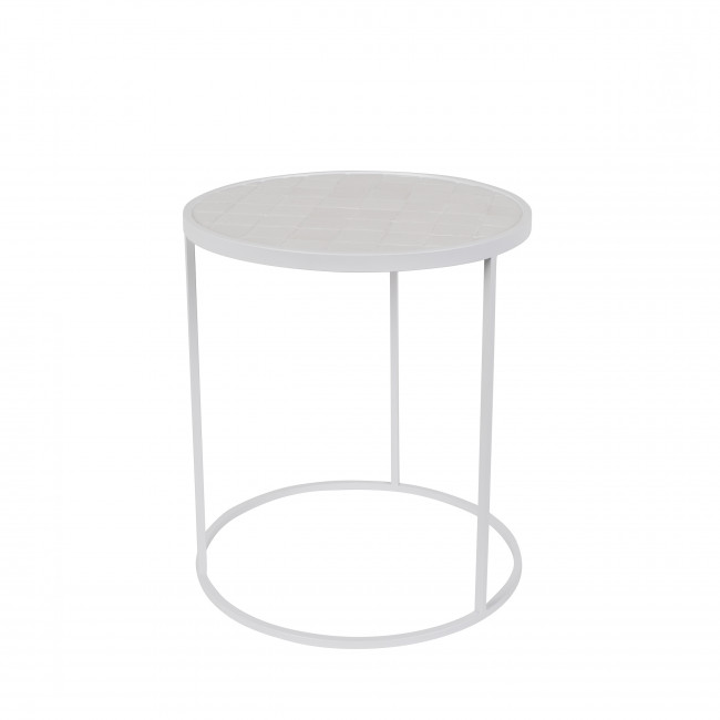 Table d'appoint ronde Glazed Zuiver