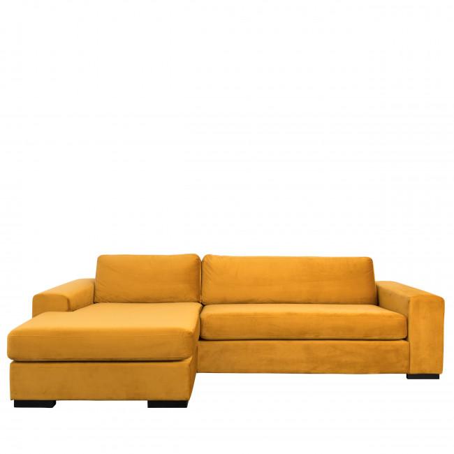 Canapé d'angle gauche en velours Fiep