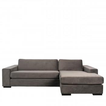 Canapé d'angle droit en velours Fiep