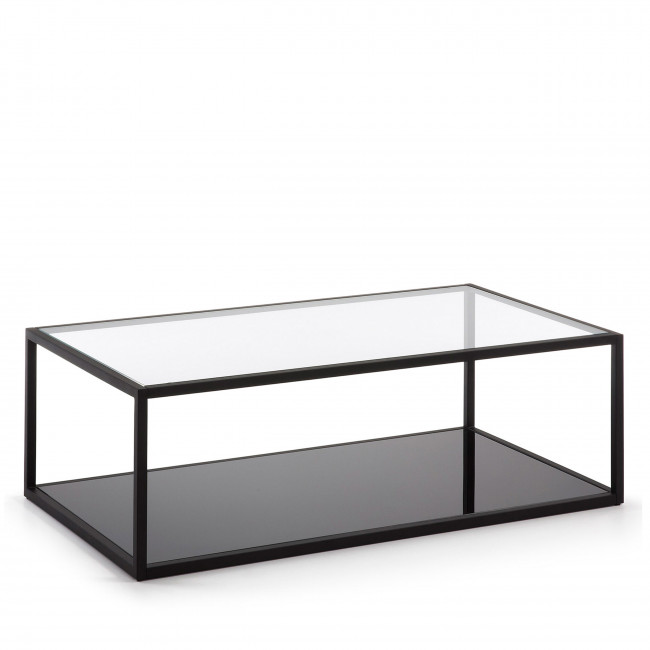 Table basse rectangle en métal Blackhill
