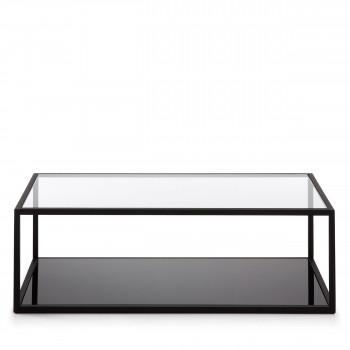 Table basse rectangle en métal Blackhill
