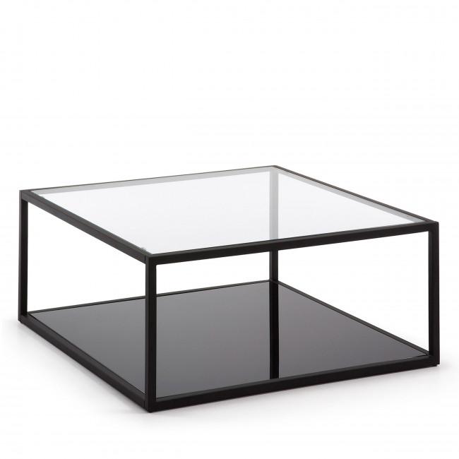 Table basse carrée en métal Blackhill