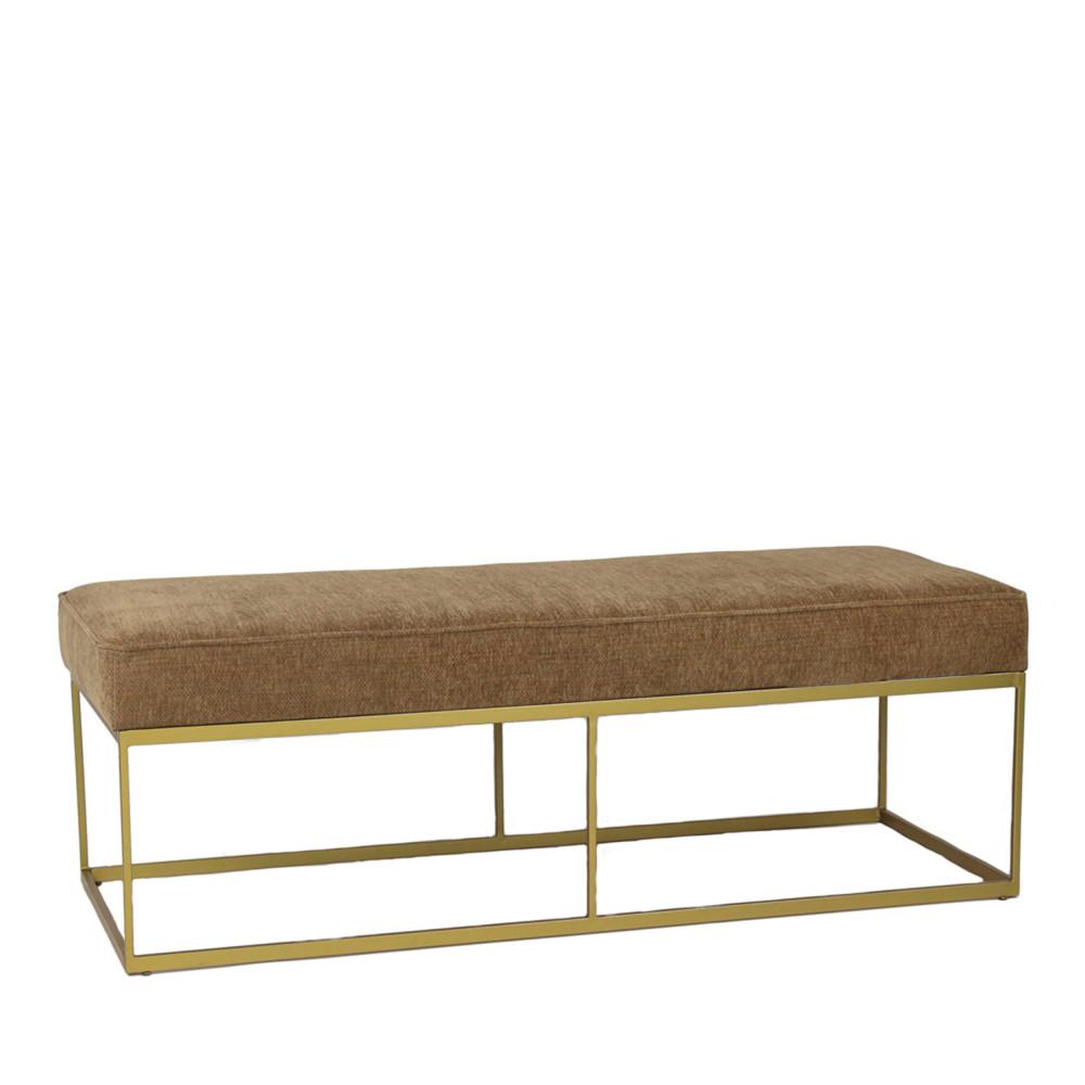 banc design en tissu et m tal henry pomax drawer. Black Bedroom Furniture Sets. Home Design Ideas