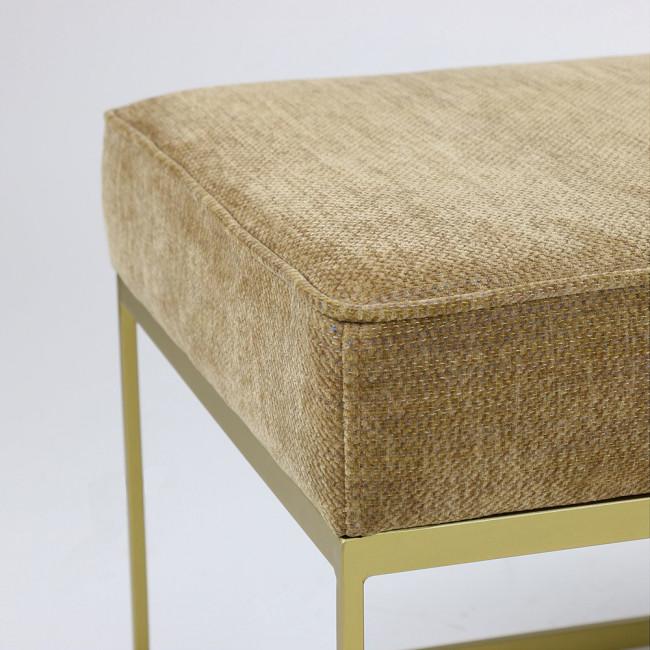 Banc design en tissu et métal Henry Pomax