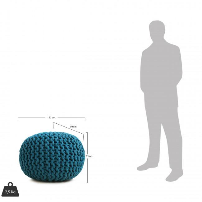 Pouf tissé main en laine Ø50 cm Dhal