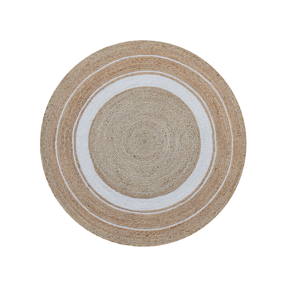 tapis rond 150 cm en jute mahika drawer. Black Bedroom Furniture Sets. Home Design Ideas