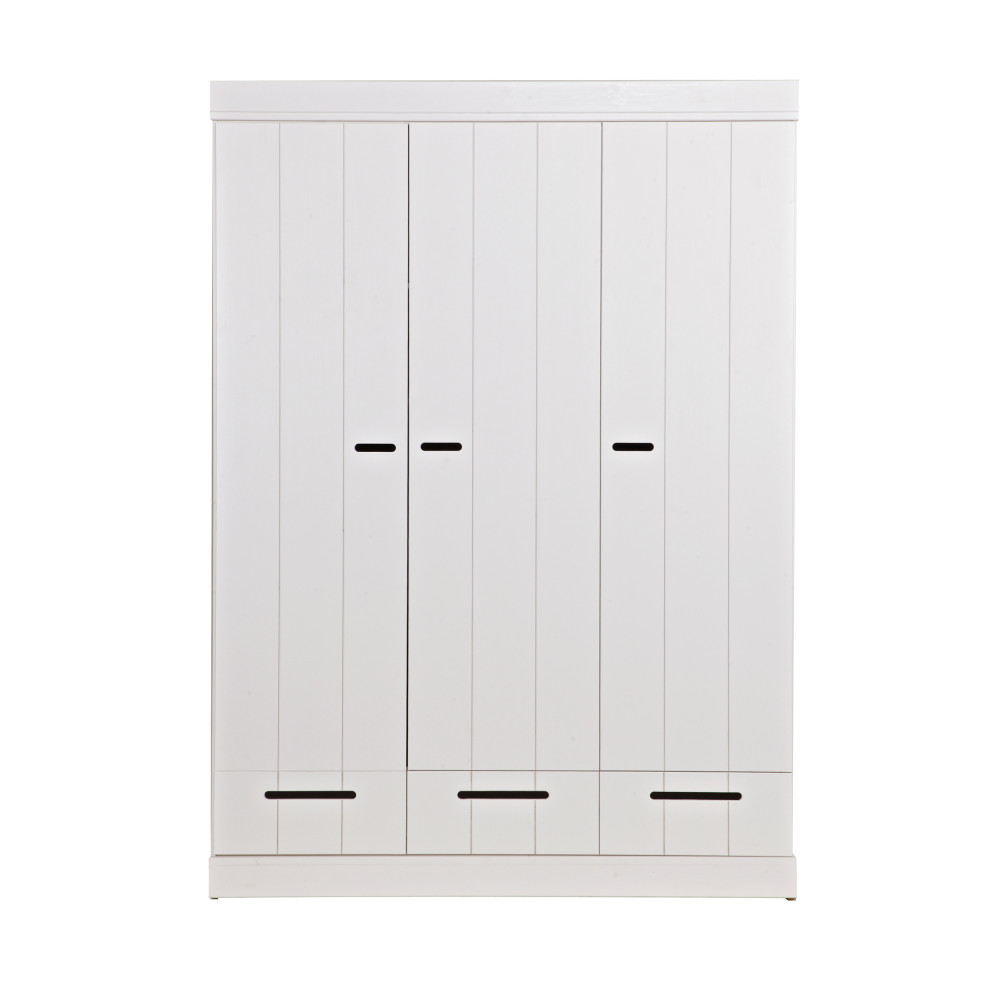 armoire vestiaire 3 portes 3 tiroirs connect drawer. Black Bedroom Furniture Sets. Home Design Ideas