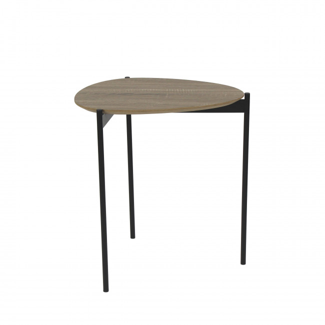 Table basse en bois et métal S Guillaume Pomax
