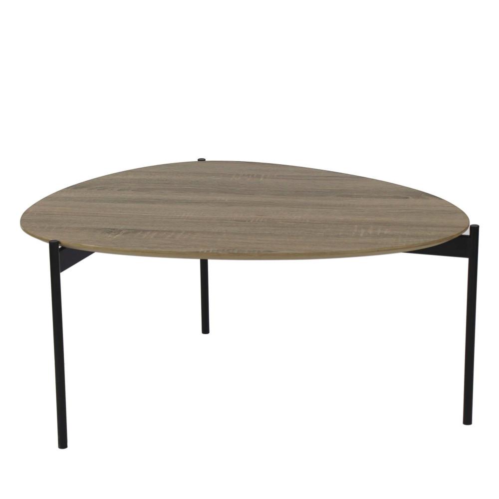 Table basse en bois et métal L Pomax - GUILLAUME