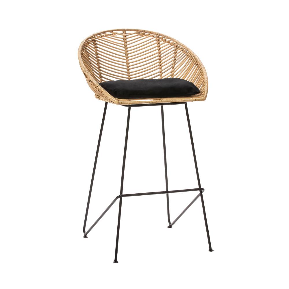 tabouret de bar en rotin 69 cm naulu drawer. Black Bedroom Furniture Sets. Home Design Ideas