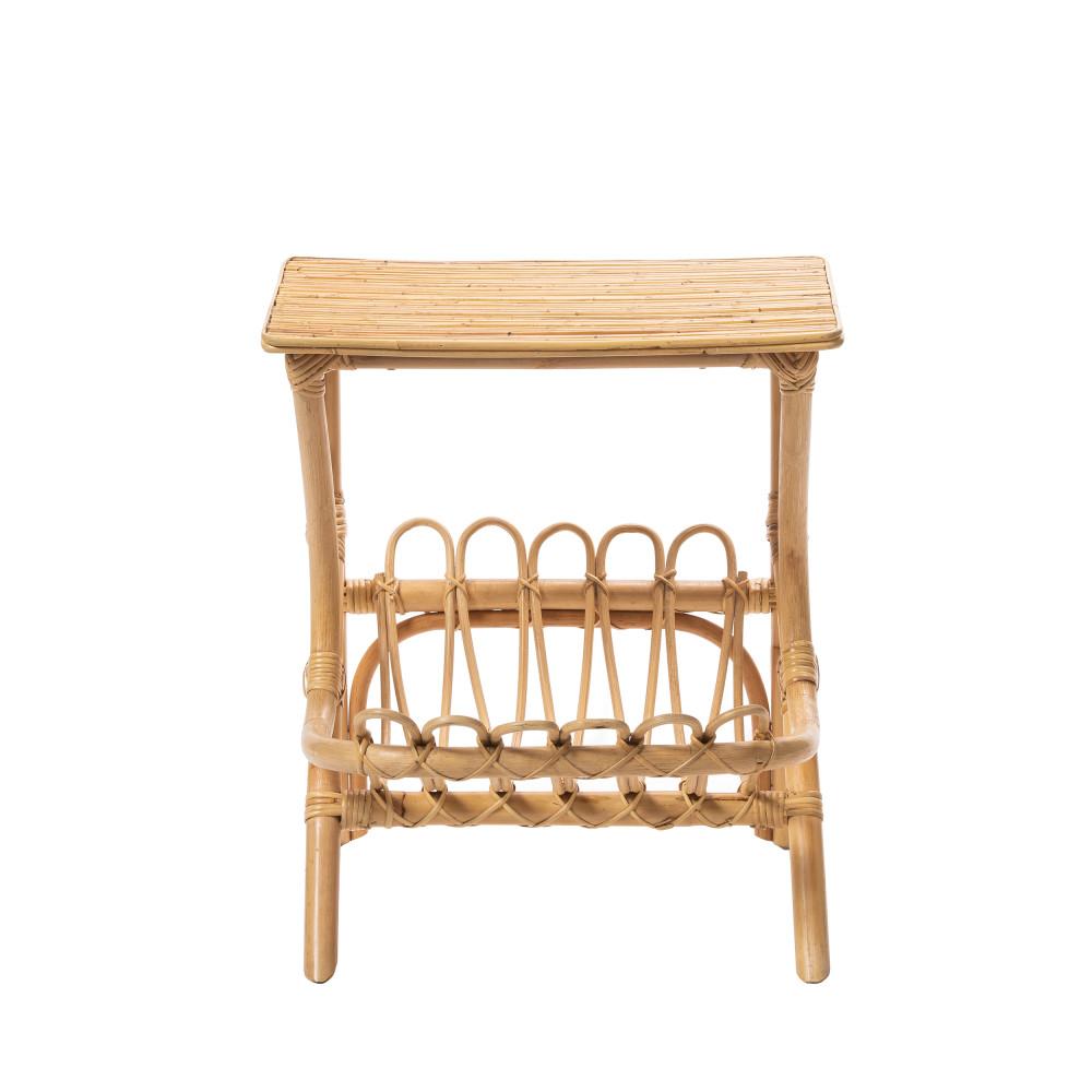 table de chevet vintage en rotin bayahibe drawer. Black Bedroom Furniture Sets. Home Design Ideas
