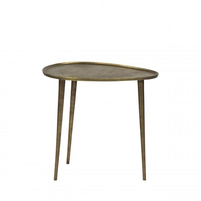 Table basse en métal couleur or M Austral Pomax