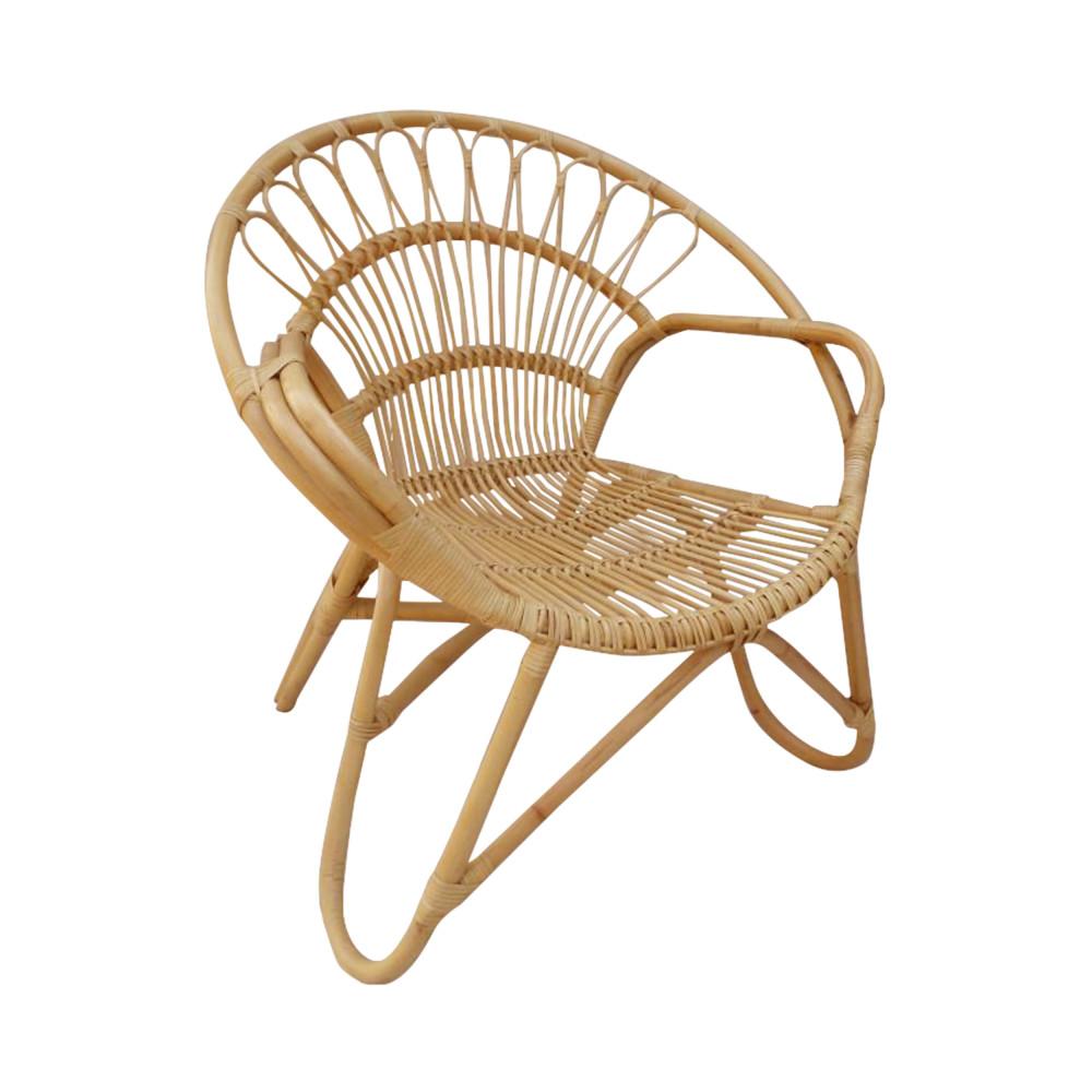 fauteuil vintage en rotin milo drawer. Black Bedroom Furniture Sets. Home Design Ideas