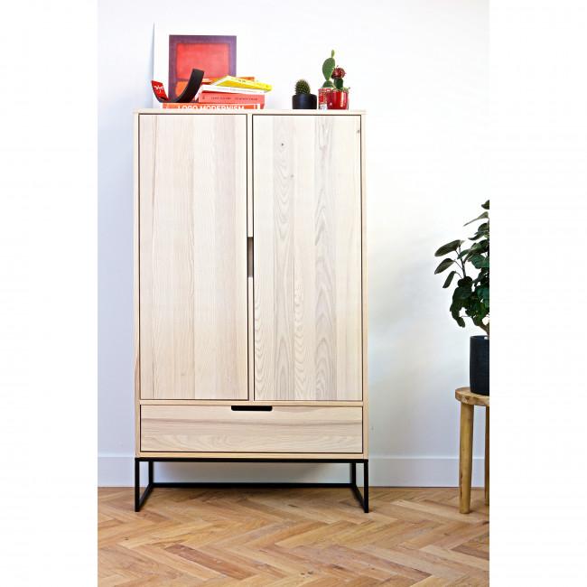 Buffet haut design en bois Silas Woood