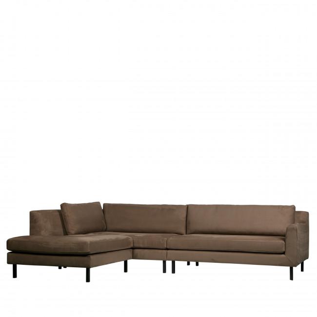 Canapé d'angle gauche en velours Nate Woood