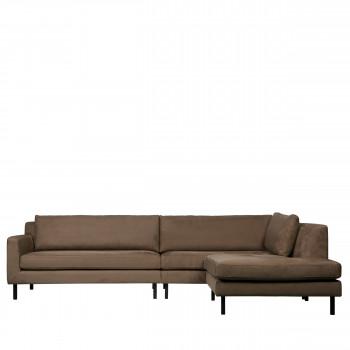 Canapé d'angle droit en velours Nate Woood