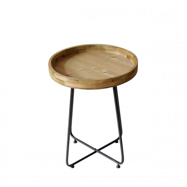 Bout de canapé en bois et métal M Westwood Redcartel