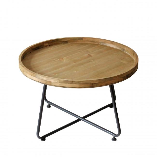 Bout de canapé en bois et métal S Westwood Redcartel