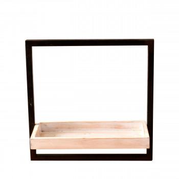 Étagère carrée en bois et métal Spencer Redcartel