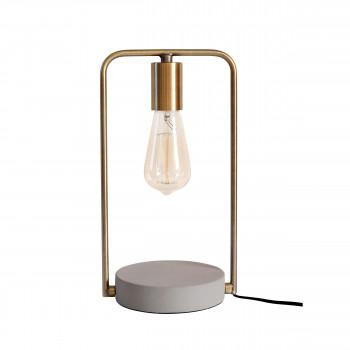 Lampe à poser en béton et métal Oken Redcartel