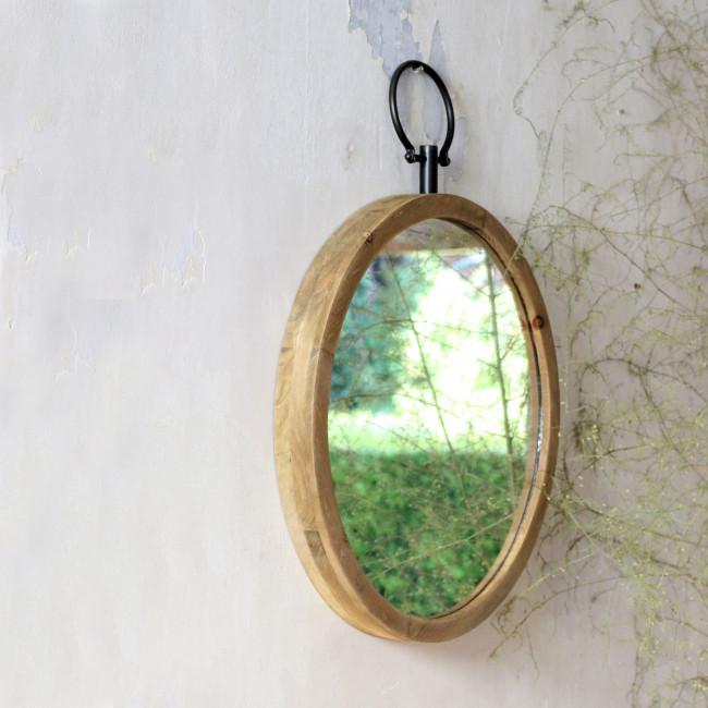 Miroir rond en bois ø 50 cm Flint Redcartel