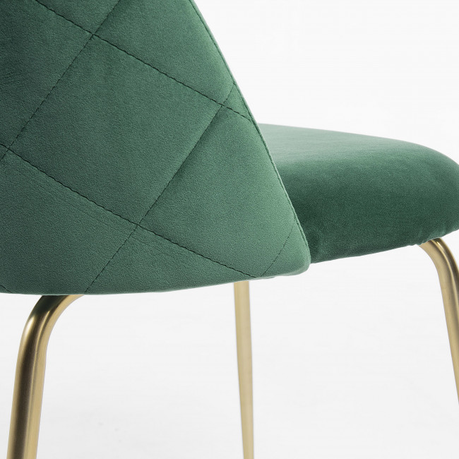 Lot de 2 chaises en velours Ivonne