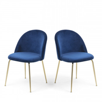 Lot de 2 chaises en velours Ivonne