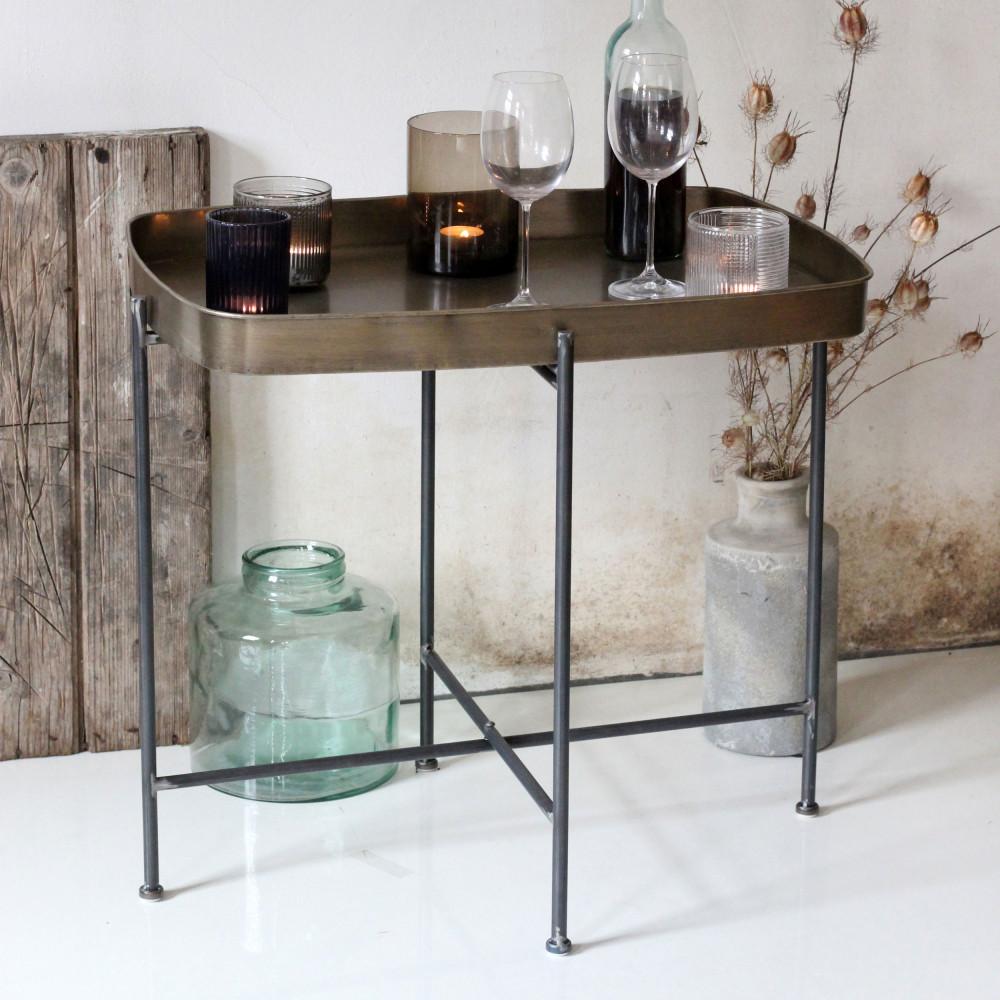 bout de canap en m tal june redcartel drawer. Black Bedroom Furniture Sets. Home Design Ideas