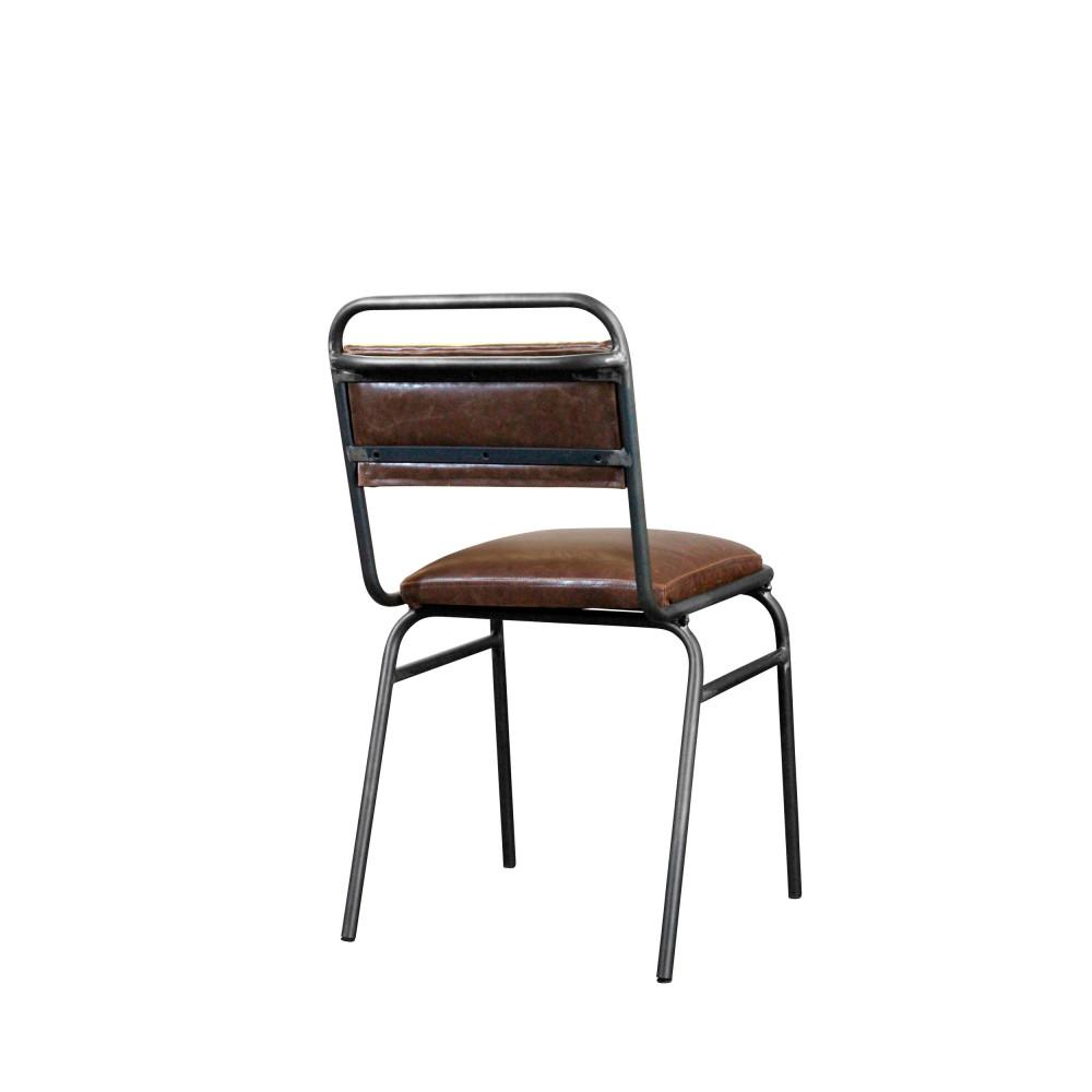 Lot De 2 Chaises En Metal Et Simili Cuir Wellington Redcartel