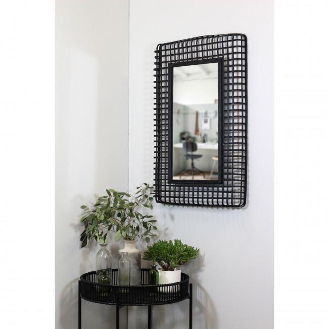 Miroir en rotin Jepara Redcartel
