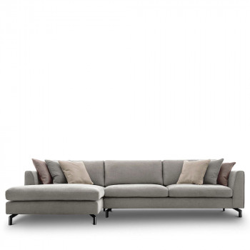 Canapé d'angle gauche tissu Linate