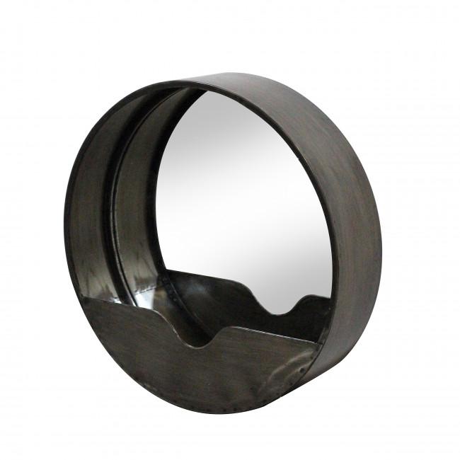 Lot de 2 miroirs ronds en métal Duomo Redcartel