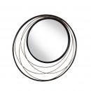 Miroir rond en métal ø 60 cm Conrad Redcartel