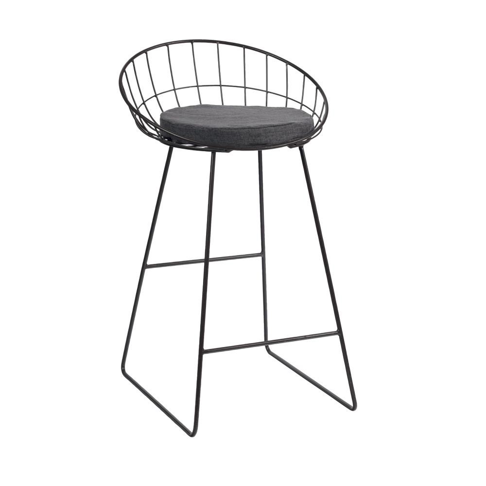Tabouret De Bar Design En Acier Treillis