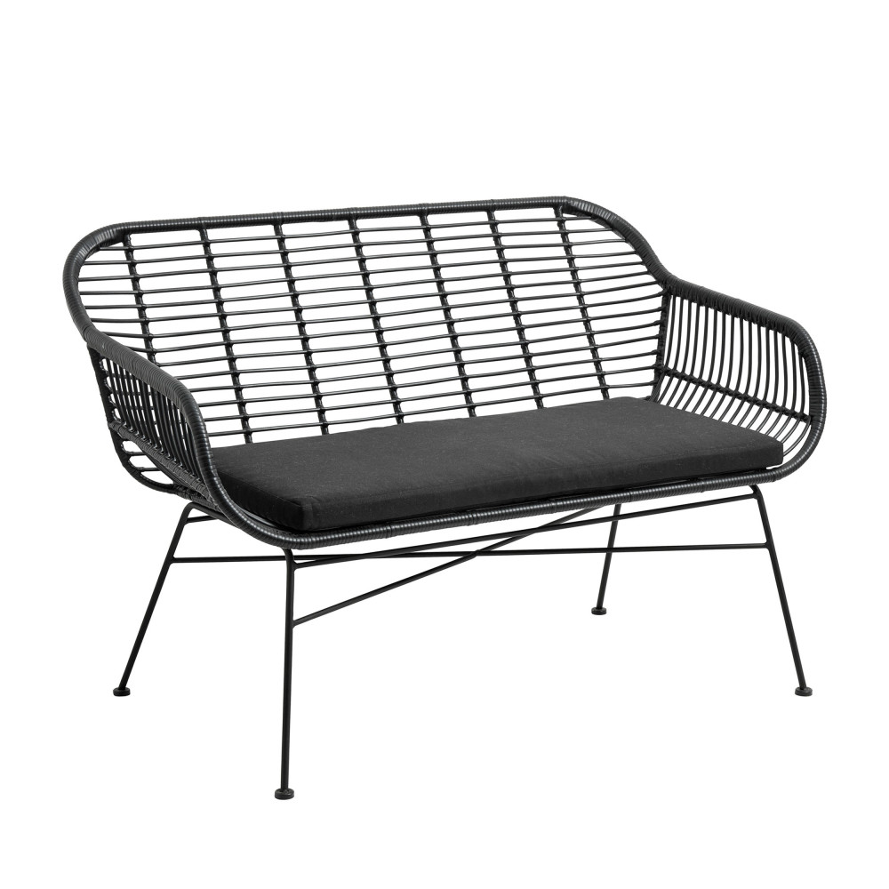 banquette de jardin 2 places en r sine saksild drawer. Black Bedroom Furniture Sets. Home Design Ideas