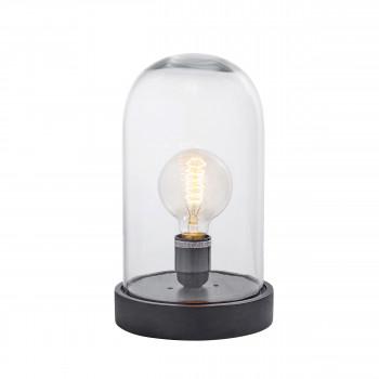 Lampe à poser en bois et verre Dome