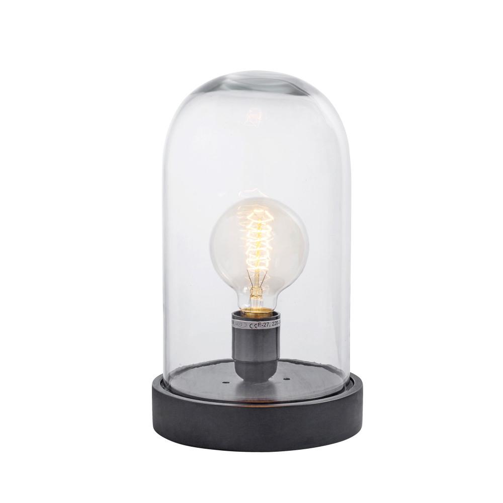 lampe poser en bois et verre dome drawer. Black Bedroom Furniture Sets. Home Design Ideas