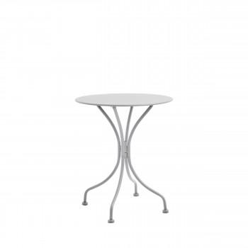 Table de jardin ronde en acier Helberskov