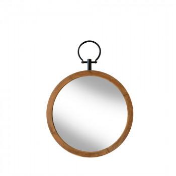 Miroir rond en bois ø 40 cm Flint Redcartel