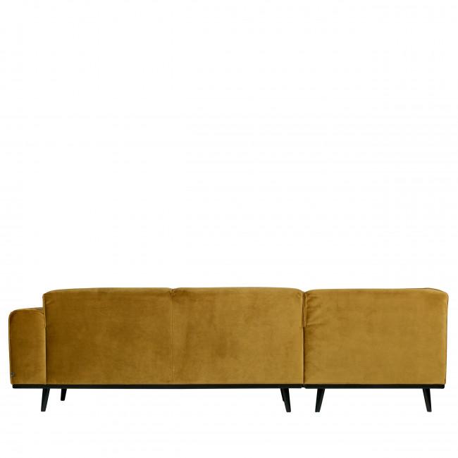Canapé d'angle gauche velours Statement