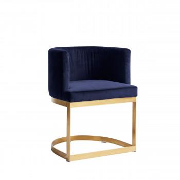 Chaise rétro en velours Lounge