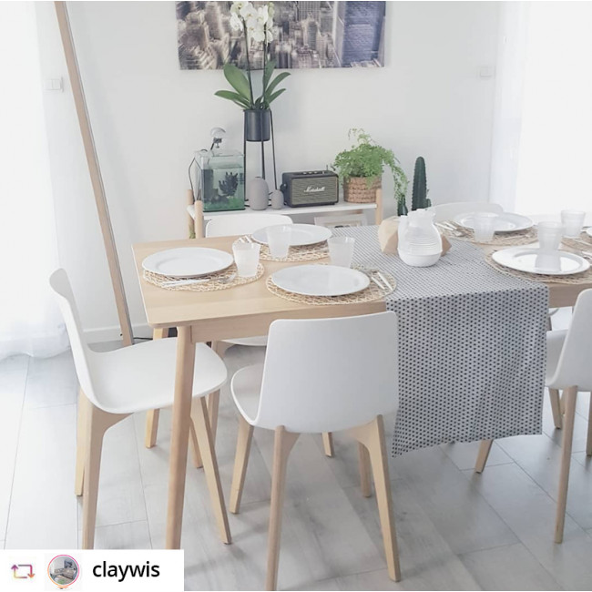 Table à manger en bois 180x80cm Skoll