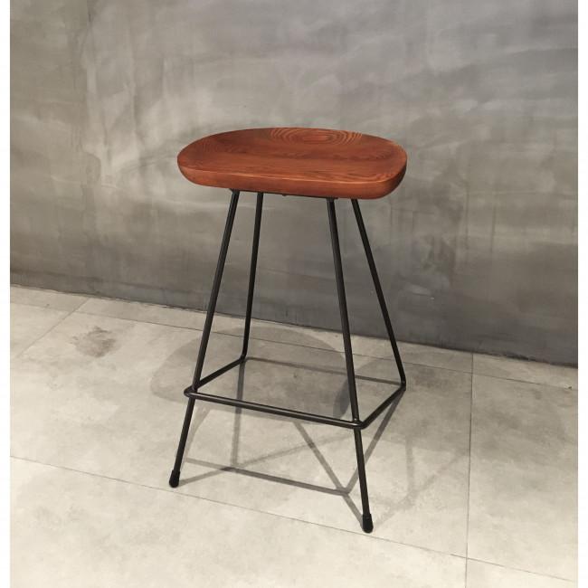 Tabouret métal bois vintage 66 cm Winton